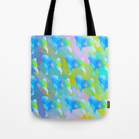pugs Tote Bags featuring Pugs Pattern by Dnzsea