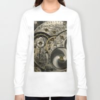 clockwork Long Sleeve T-shirts featuring Clockwork Homage by DebS Digs Photo Art