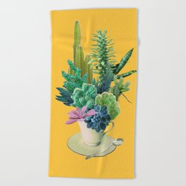 Arid garden Beach Towel