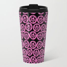 Sailor Moon R Brooch Black & Pink Travel Mug