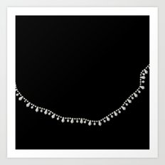 Vintage Beads on Black Art Print