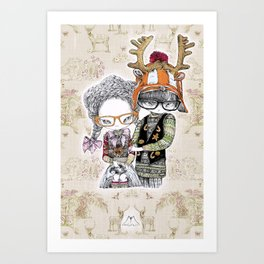 Hansel & Gretel by Carine-M Art Print