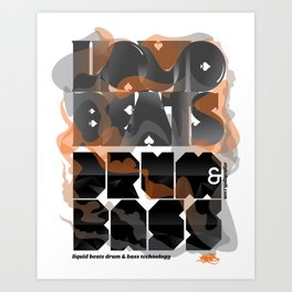 Liquid Beats Art Print