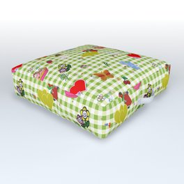 Favorites (with gingham) Outdoor Floor Cushion