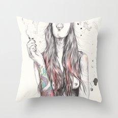 SmkngWomen Throw Pillow