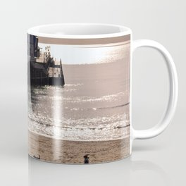 Bournemouth Pier Beach Dorset England Coffee Mug
