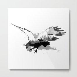 Fantasy Eagle - Landscape inside Metal Print