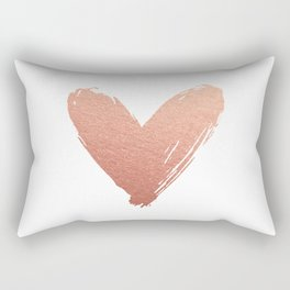 heart of rosegold Rectangular Pillow