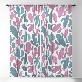 Colorful Hand Drawn Pattern Sheer Curtain