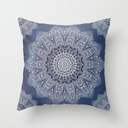 INDIGO DREAMS Throw Pillow