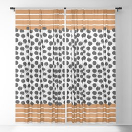 Stripes and Dots Sheer Curtain