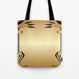 Golden Art nouveau Tote Bag