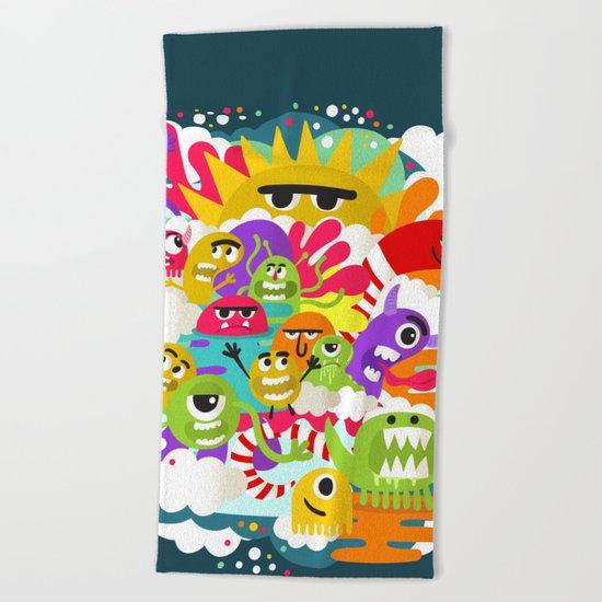Monster Sunshine Friends Beach Towel
