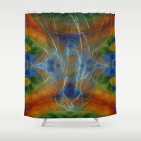 tarot Shower Curtains featuring Tarot card  XIV - Art by Lucia