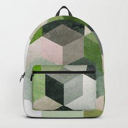 Modern Green Hexagon Art 6 Backpack