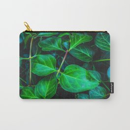 green ivy leaves plant closeup texture background Carry-All Pouch