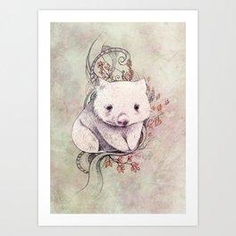 Wombat! Art Print