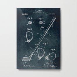 1909 - Golf Club patent art Metal Print