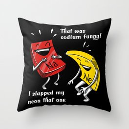 Chemistry Sodium Funny Science Geek Throw Pillow