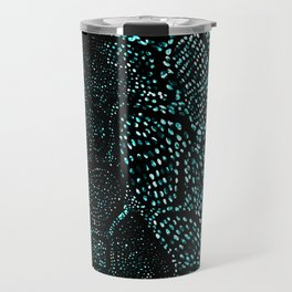 Turquoise Snake Skin Travel Mug