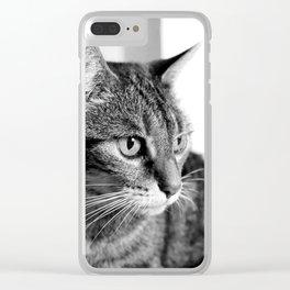 cat look Clear iPhone Case
