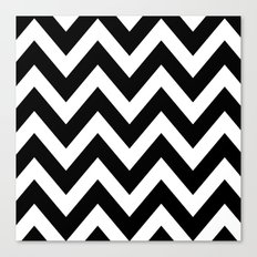 BLACK AND WHITE CHEVRON Canvas Print