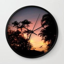 Pink Sunset 01 Wall Clock
