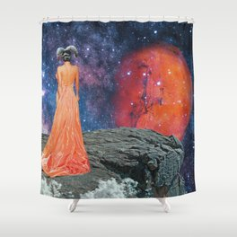 The Energy of Aries Shower Curtain
