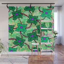 Fresh Floral: Green Wall Mural