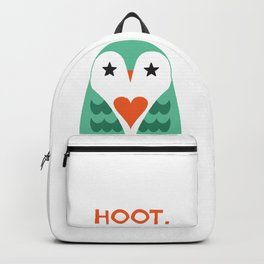 Hoot. Says The Love Owl. Backpack