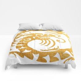 Gold Circular Tribal Dragon Comforters