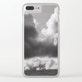 Dramatic Clouds Photograph Clear iPhone Case