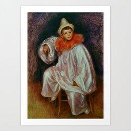 """The White Pierrot"" by Auguste Renoir Art Print"
