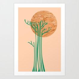 New Beginnings - Bronze & Green Art Print