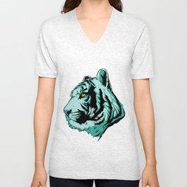 Tiger Head Unisex V-Neck