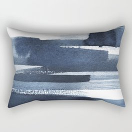 Blue Brush Rectangular Pillow