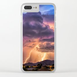 Sunset Sparks Clear iPhone Case