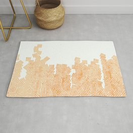 Pattern scandinavian coral marble Rug
