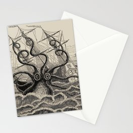 """The octopus; or, The """"Devil-fish"""" - Henry Lee - 1875 Giant Octopus Sinking Ship Stationery Cards"""