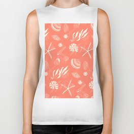 Sea shells patten Biker Tank