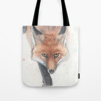 rogue Tote Bags featuring The Rogue by Tahirih Goffic