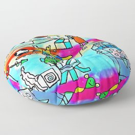 Yards and laboratories Floor Pillow