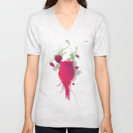 Sorbet fraises chantilly painting colors fashion Jacob's Paris Unisex V-Neck