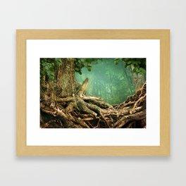 Weird roots Framed Art Print