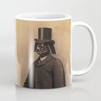 photograph Mugs featuring Lord Vadersworth by Terry Fan