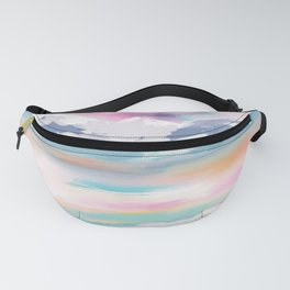 Abstract- landscape- pink, teal and orange Fanny Pack