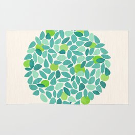 Mid Century Lime Tree Rug