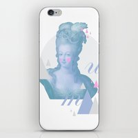 marie antoinette iPhone & iPod Skins featuring Marie Antoinette by Cut and Paste Lady