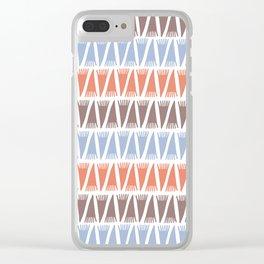Tee Pee Blue Retro Clear iPhone Case