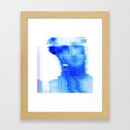 blue statue Framed Art Print